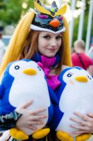 Penguin Princess and her Penguins by darkagesun