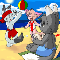 Tail Tale Beach by Coshi-Dragonite
