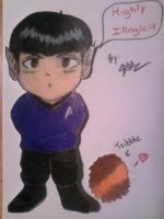 Chibi Spock and his Tribble by THEJ0KES0nBATSY