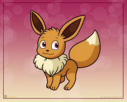 Sweet Eevee by MeckelFoxStudio