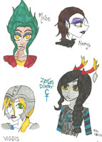 Lovely Lady OCs by BlackWingedKat