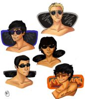 The Boys and their Shades by Murbur14