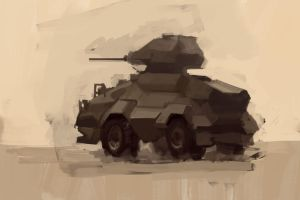 ASOT433: Sloped Armor Scout Car by Hamsta180
