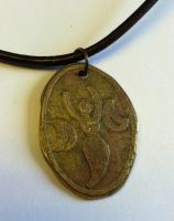 Goddess Etched Brass Necklace by MoonLitCreations