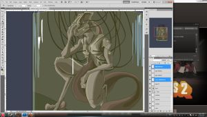 Mewtwo WIP by DualityDreams