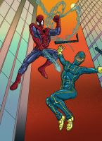 Spidey Kick-ass by Mathieugeekboy