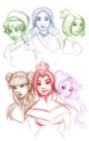 Avatar Girls Sketchy Dump hurr by trishna87