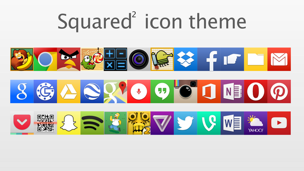 Squared Icon Theme (1.3.0) by TheGoldenBox