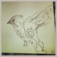 Music Bird by art-girl111