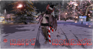 Jinxy the Fruit Bat - Happy Holidays - Second Life by Jace-Lethecus