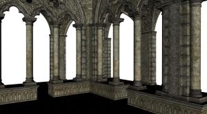 Cloisters by stock-cmoura