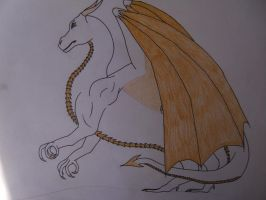 Xander the White Dragon by Daughter-Of-Wolves