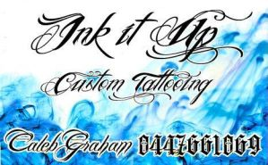 My business card design- INK IT UP by CalebSlabzzzGraham