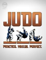 Judo Tshirt - Practice Makes Perfect by EryckWebbGraphics