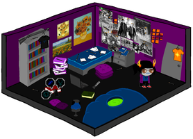 .:A young troll lady stands in her room:. by veri119