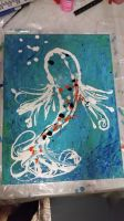 Splat Koi fish 3 - turquoise by Jutchy