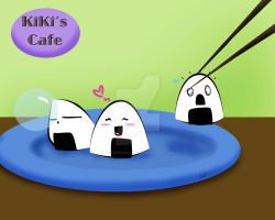 Kiki's cafe...with rice balls by TV-QueenMaster