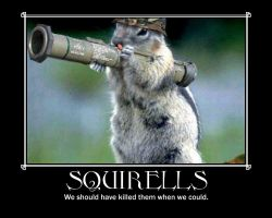 squirell motivational poster by Stickbomber