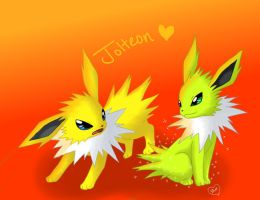 Jolteon Twin by Bluekiss131