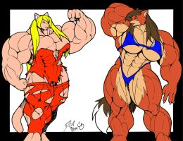 Muscle Growth Contest Colored by PS286