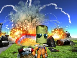 Kerbal guys don't look at explosions by E1-Roberto