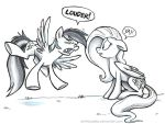MLP Sketch - LOUDER! by sophiecabra