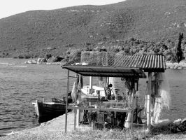 fisherman's hut by Ghaderal
