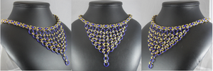 Japanese Cascade Necklace in Purple and Gold by Tarliman
