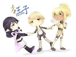 Half Prince - Tug O War Chibi by G-Trace