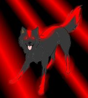 Shadow In Doggy Wolf Form by ScourgeXNazo2