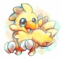 Little Yellow Peep by crayon-chewer