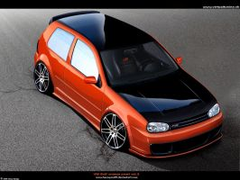 vw golf IV orange pearl by hesoyam25