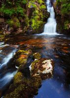 Waterfall, West Highlands by Greg-McKinnon