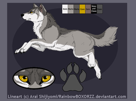 Wolf adoptable 3 [Closed] by Kuro-Hiryuu