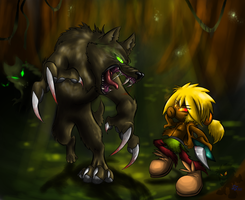 The Forest Battle! +Plus Speedpaint+ by Super-Sonic-101