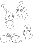 Chao Sketchdump by ladyarah