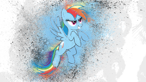 Rainbow Dash Splatter by AeliosZero