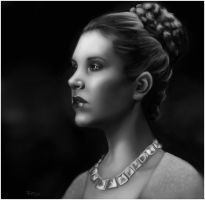 Portrait of Leia by ReneAigner