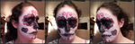 Red Sugar Skull Collage by InvaderBlitzwing