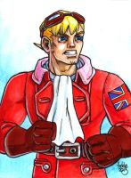 Sketchcard Power Stone Edward Falcon by fedde