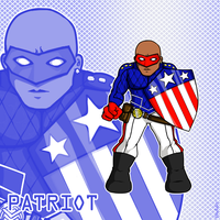 Super Hero Patriot by ishipit