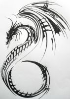 Dragon Tattoo Design by Lacrimosa-Jem