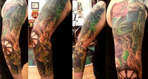 Sleeping Beauty Sleeve InProg2 by shinigami-sama