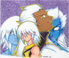 KH Riku and Ansem by brakish