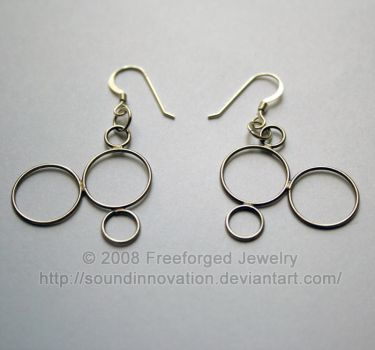 Compound - Earrings - Oxidized by soundinnovation