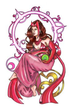 Nouveau Scarlet Witch by Syreene