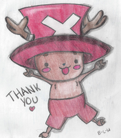 Chopper thanks you for  the 1000 page views!!! by Brave-Little-Wolf