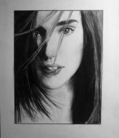 Jennifer Connelly Drawing by FlyingSaucerTeacup