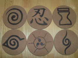Naruto Coasters by TheTurnerPack