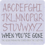 When You're Gone Font by Poemhaiku